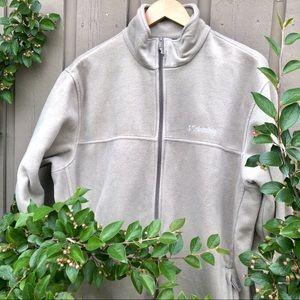 Men's Columbia Zip Up Fleece Size XL Tan Colour